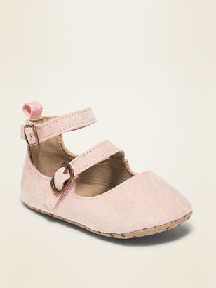 Old Navy Faux-Suede Double-Strap Ballet Flats for Baby