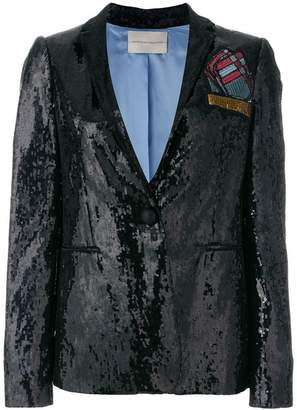 Marco De Vincenzo sequined foulard blazer