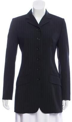 Dolce & Gabbana Pinstripe Longline Blazer Black Pinstripe Longline Blazer