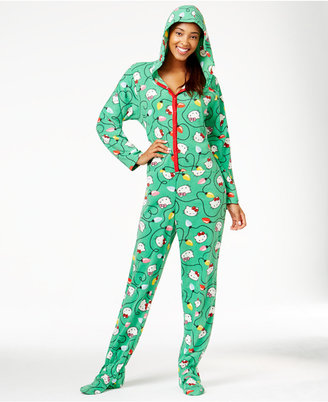 Hello Kitty Christmas Hooded Footed Jumpsuit $45 thestylecure.com