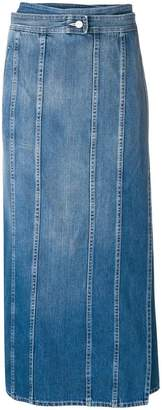 MM6 MAISON MARGIELA panelled denim midi skirt