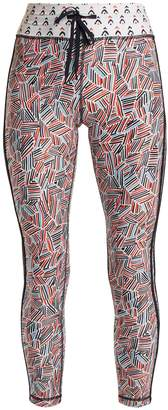 The Upside Fire and Rain-print performance leggings