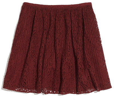 Madewell Flora Lace Pleat Mini