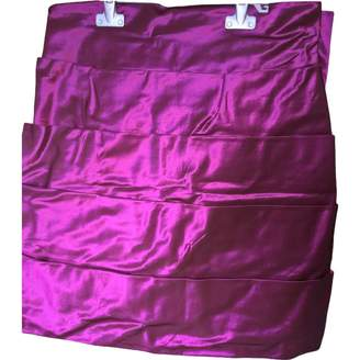 Azzaro Purple Cotton Skirt for Women