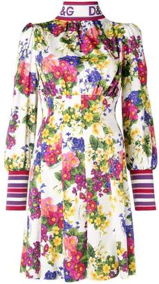 Dolce & Gabbana floral long-sleeve dress