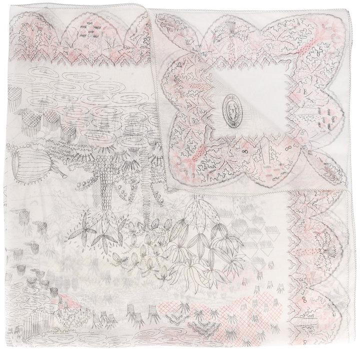 ValentinoValentino Garavani Garden Of Earthly Delights scarf