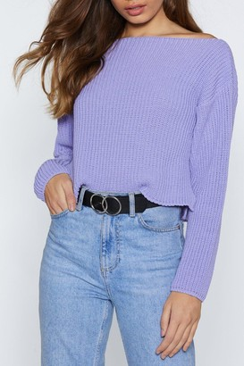 Nasty Gal You'll Come Round Vegan Leather Belt