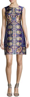 Nanette Lepore Sleeveless Floral Paisley Silk Cocktail Dress, Plum/Multicolor $398 thestylecure.com