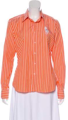 Ralph Lauren Black Label Striped Long Sleeve Top