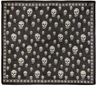 Alexander McQueen Black Silk Skull Scarf $245 thestylecure.com