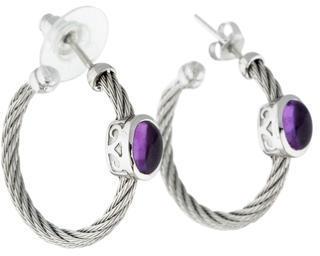 CharriolCharriol ALOR Amethyst Cable Hoop Earrings