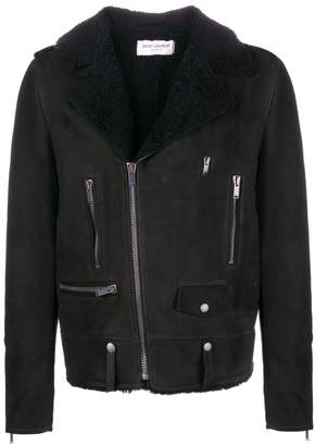 Saint Laurent shearling biker jacket