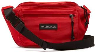 Balenciaga Logo-appliqué nylon belt bag