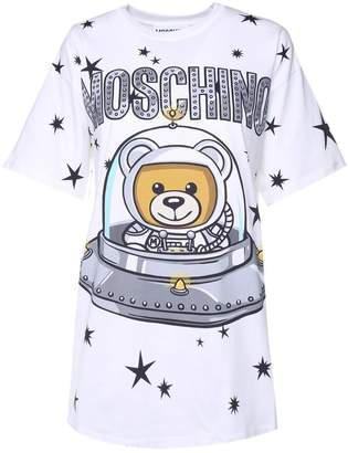 Moschino Teddy Ufo Cotton-jersey Oversized T-shirt