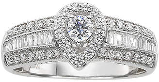MODERN BRIDE 5/8 CT. T.W. Diamond Pear-Style Engagement Ring