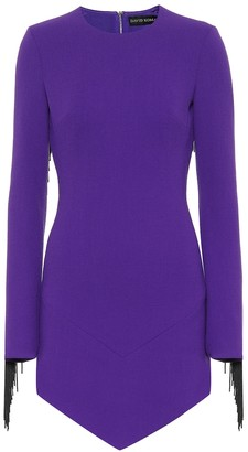 David Koma Wool-blend minidress