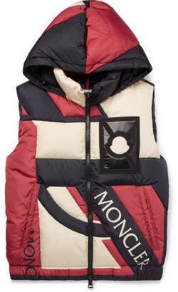 Craig Green Moncler Genius - 5 Moncler Colour-Block Quilted Shell Hooded Down Gilet - Red