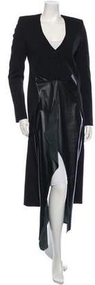 Thierry Mugler Long Wool Coat w/ Tags