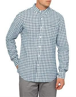 David Jones Linen Grid Check Shirt