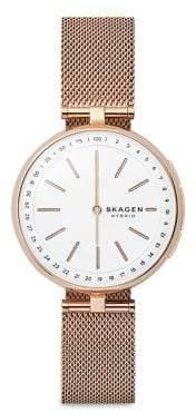 Skagen Signatur Connected Stainless Steel T-Bar Mesh Bracelet Hybrid Smartwatch