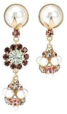 Erdem Crystal Drop clip-on earrings