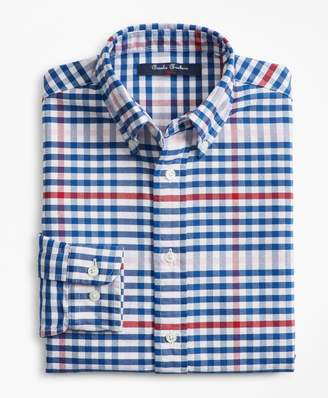 Brooks Brothers Boys Cotton Oxford Multi-Color Gingham Sport Shirt