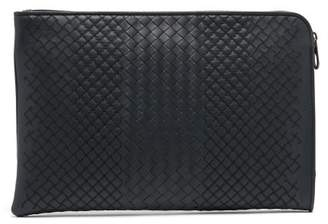 Bottega Veneta - Intrecciato Leather Document Holder - Mens - Navy