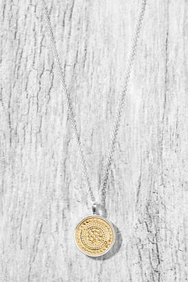 Anna Beck Small Reversible Disc Necklace Silver