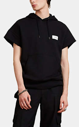Givenchy Men's Logo Terry Cutoff Hoodie - Black