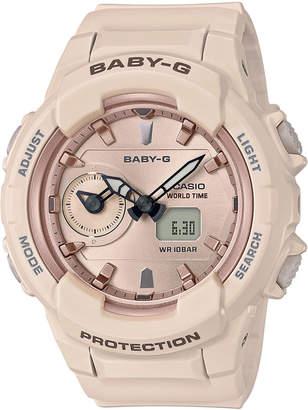 Baby-G Women's Analog-Digital Pink Resin Strap Watch 42.9mm