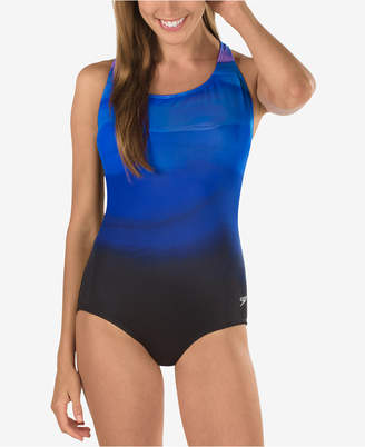 Speedo Rhythmic Wave Powerflex One-Piece Swimsuit