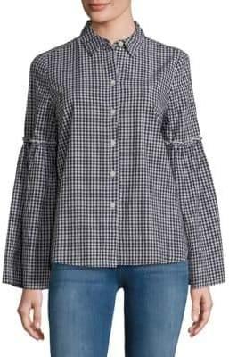 Bell Sleeve Cotton Shirt