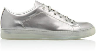 Lanvin Metallic Leather Low-Top Sneakers