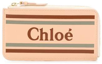 Chloé zipped logo wallet
