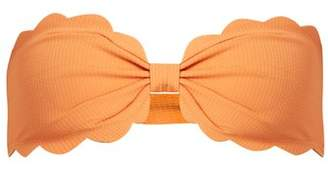 Marysia Swim Antibes Scallop Edged Bandeau Bikini Top - Womens - Orange