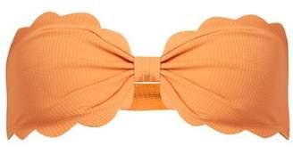 Marysia - Antibes Scallop Edged Bandeau Bikini Top - Womens - Orange