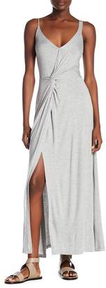 Vanity Room Knit Knotted Maxi Dress
