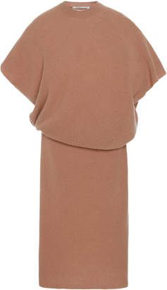 Agnona Ribbed Cashmere Midi Dress
