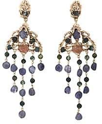 Goossens Paris Women's Iolite Drop Earrings-Gold