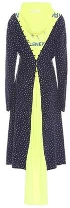 Vetements Emoji polka-dot silk dress