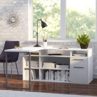 Mercury Row Alves L-Shaped Melamine Top Computer Desk