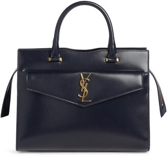 Saint Laurent Uptown Small Cabas Leather Satchel