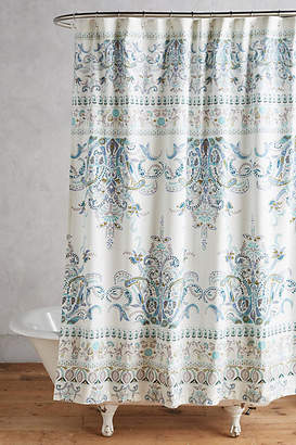 At Anthropologie Florilla Shower Curtain