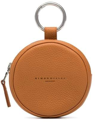Simon Miller Camel Circle Pop Leather Pouch