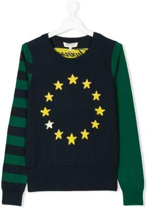 Twin-Set Kids Teen colour block-intarsia jumper