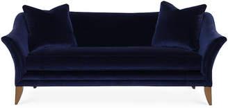 One Kings Lane Charlotte Sofa - Navy Velvet