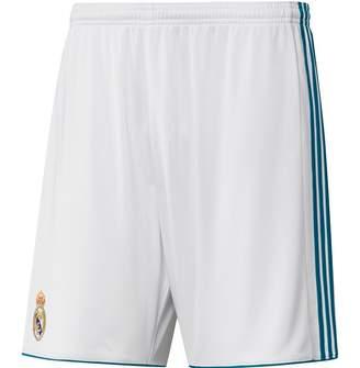 adidas Mens RMCF Real Madrid Home Shorts White/Vivid Teal