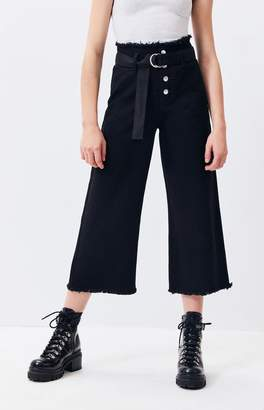 TWIIN Call Out Belted Culotte Jeans