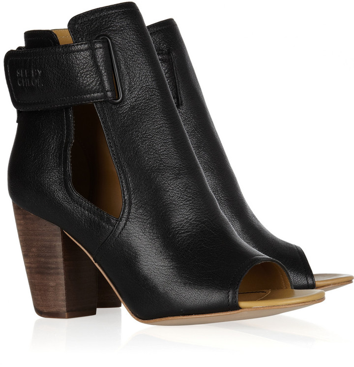 See by Chloé Cutout leather ankle boots