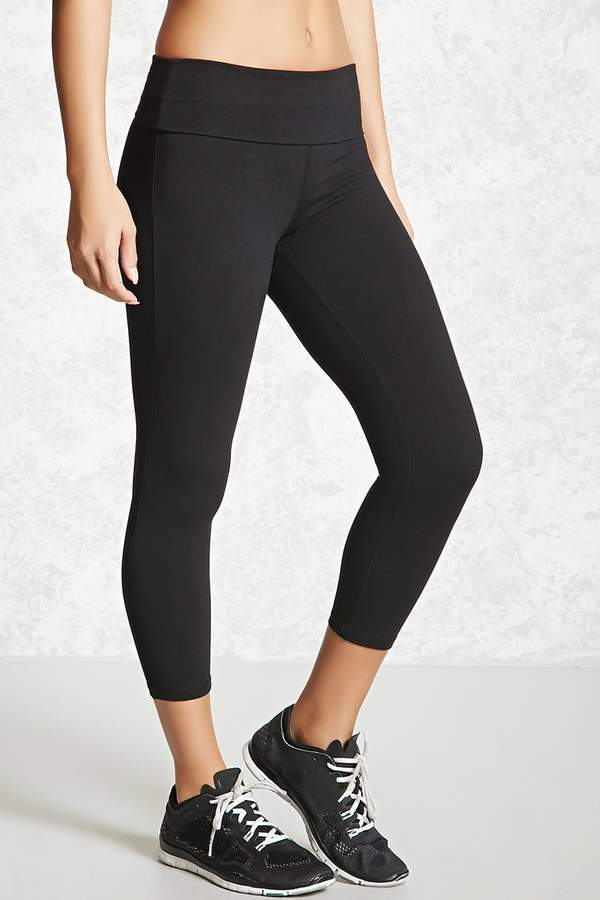 Forever 21 Active Foldover Capri Leggings